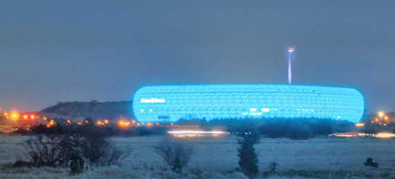 UFO has landed - Munich Soccer Stadium - the Allianz Arena